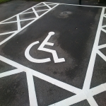 Car Park Floor Painting in Dickens Heath 5