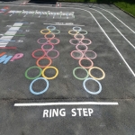 Car Park Floor Painting in Dickens Heath 7
