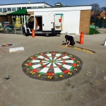 Car Park Floor Painting in Westwood Park 9