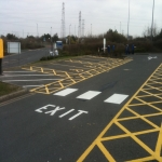 Car Park Floor Painting in Witham Friary 9