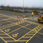 Car Park Floor Painting in Witham Friary 8