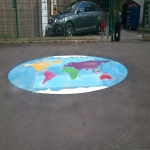 Car Park Floor Painting in Abbotsham 2