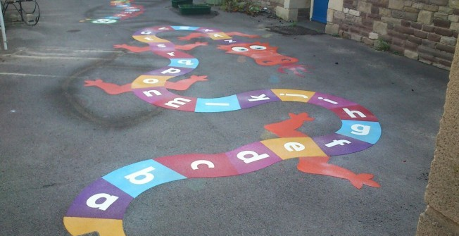 Playground Marking Designs in Caerphilly