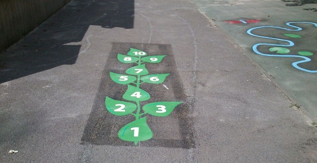 Thermoplastic Playground Markings in Almshouse Green